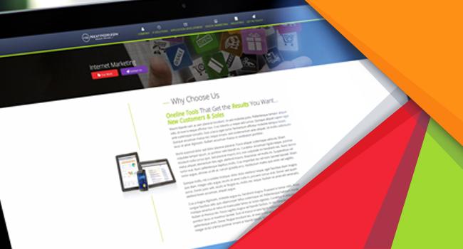 Sample of Next Horizon Website